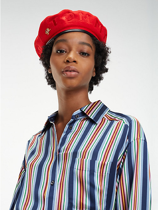 HILFIGER COLLECTION Pure Wool Crest Beret - TOMMY RED - HILFIGER COLLECTION Hilfiger Collection - main image