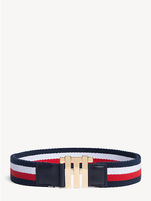 HILFIGER COLLECTION Elastic Monogram Belt - CORPORATE - HILFIGER COLLECTION Hilfiger Collection - main image