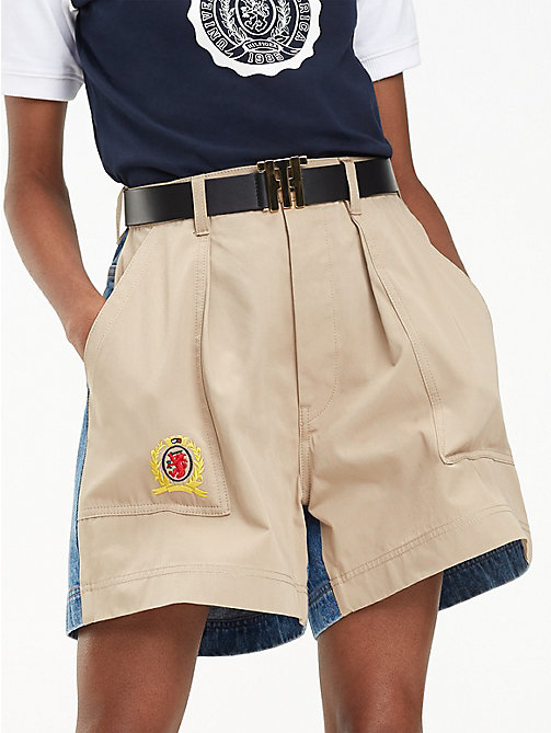 HILFIGER COLLECTION Short cargo contrasté - CROISSANT / MULTI - HILFIGER COLLECTION Hilfiger Collection - image principale