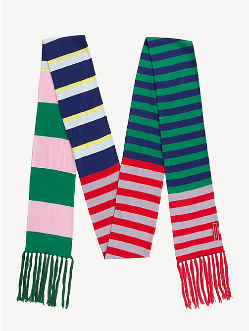 HILFIGER COLLECTION Stripe Knitted Scarf - MEDIEVAL BLUE / MULTI - HILFIGER COLLECTION Hilfiger Collection - detail image 1