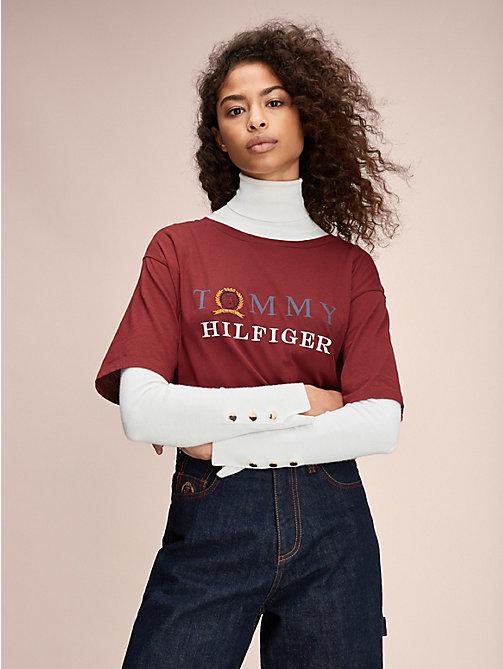 T shirt cropped femme Tommy Jeans sans manches · Hilfiger