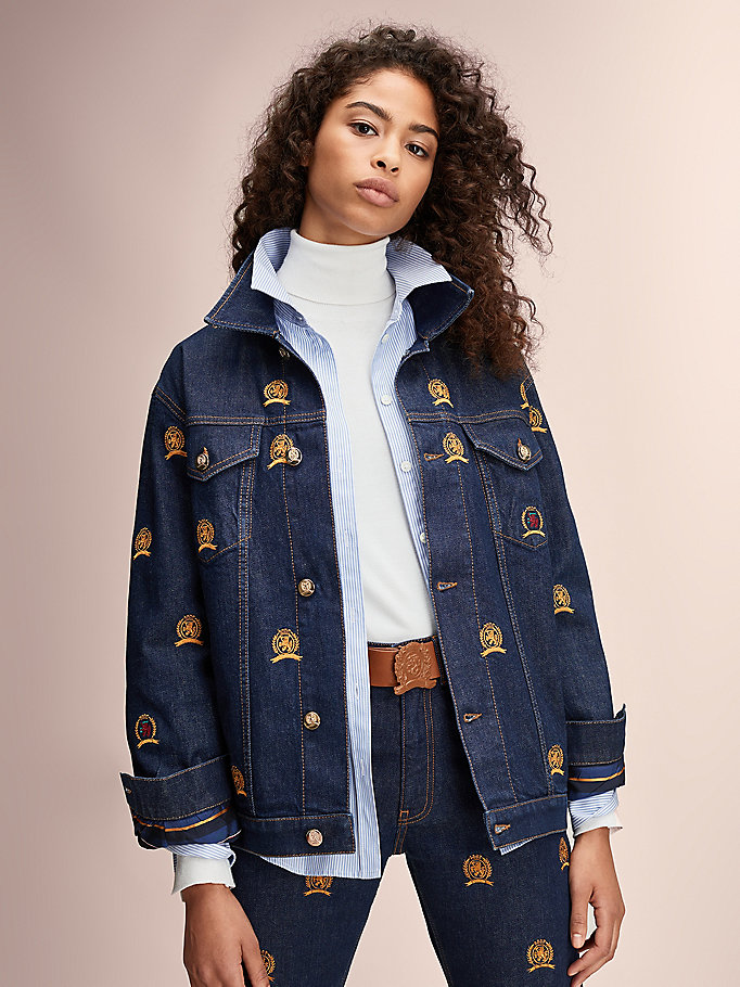 Crest Embroidery Denim Jacket | DENIM | Tommy Hilfiger