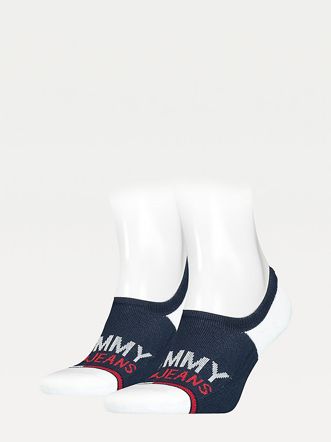 blue 2-pack no-show trainer socks for unisex tommy jeans