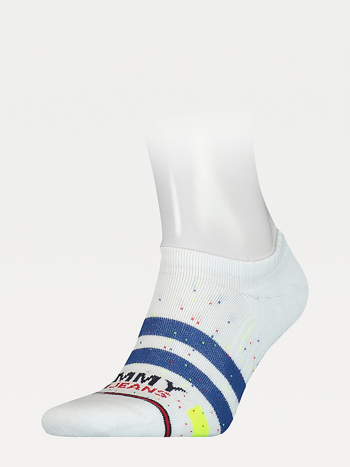 white spot and stripe trainer socks for unisex tommy jeans