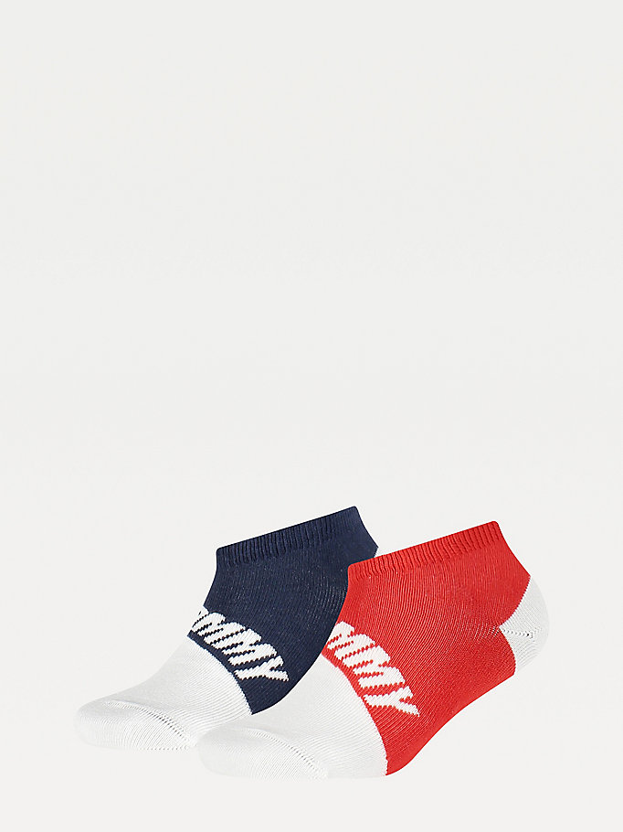 blue 2-pack trainer socks for unisex tommy hilfiger
