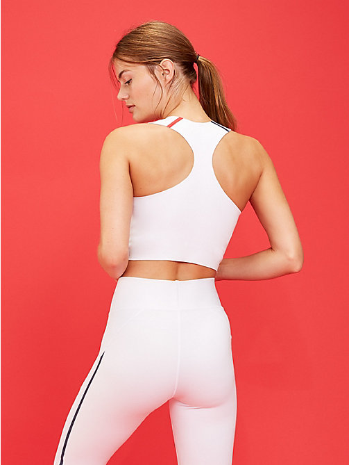 TOMMY SPORT RacerBack Medium Support Sports Bra - PVH WHITE - TOMMY SPORT Women - detail image 1