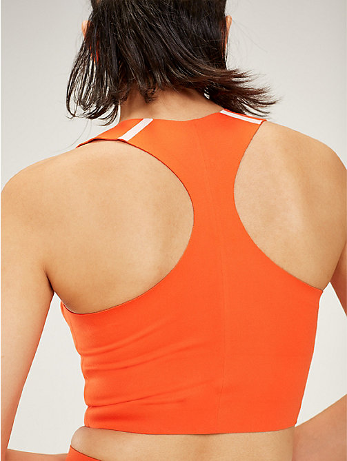 TOMMY SPORT RacerBack Medium Support Sports Bra - CHERRY TOMATO - TOMMY SPORT Women - detail image 1