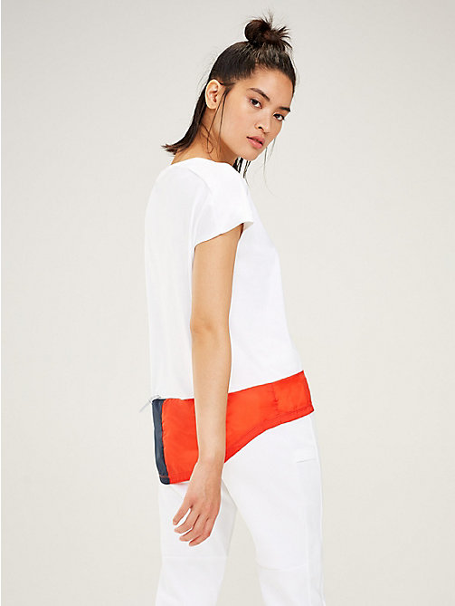 TOMMY SPORT Signature Fishtail T-Shirt - PVH WHITE - TOMMY SPORT Women - detail image 1