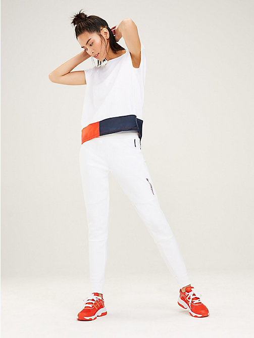TOMMY SPORT Signature Fishtail T-Shirt - PVH WHITE - TOMMY SPORT Women - main image