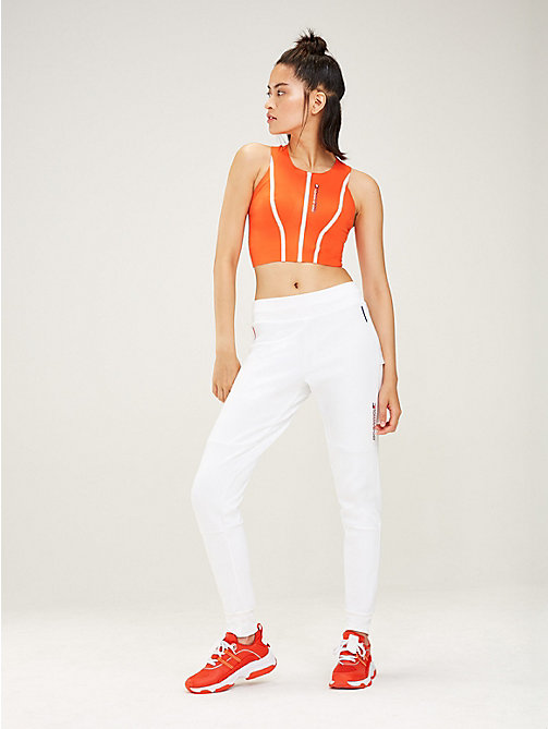 TOMMY SPORT Fleece jogger - PVH WHITE - TOMMY SPORT Dames - main image