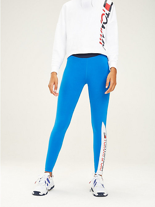 TOMMY SPORT Colour-blocked sportlegging - PRINCESS BLUE - TOMMY SPORT Dames - main image