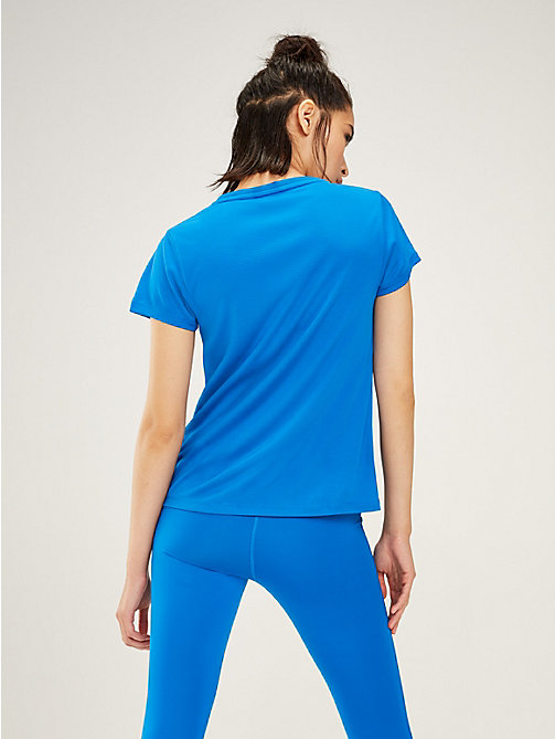 TOMMY SPORT Logo Crew Neck T-Shirt - PRINCESS BLUE - TOMMY SPORT Women - detail image 1