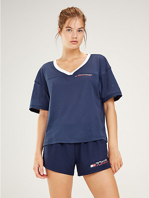 TOMMY SPORT Logo V-Neck T-Shirt - SPORT NAVY - TOMMY SPORT Women - main image