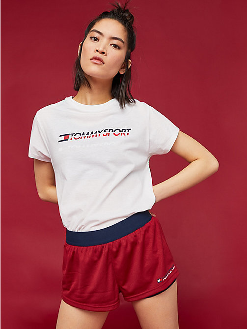 TOMMY SPORT Crew Neck T-Shirt - PVH WHITE - TOMMY SPORT Women - main image