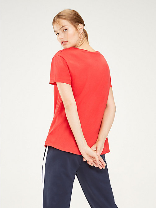 TOMMY SPORT Crew Neck T-Shirt - TRUE RED - TOMMY SPORT Women - detail image 1