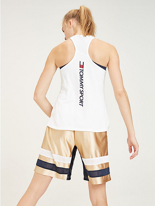 TOMMY SPORT Tanktop met Tommy Sport-logo - PVH WHITE - TOMMY SPORT Dames - detail image 1