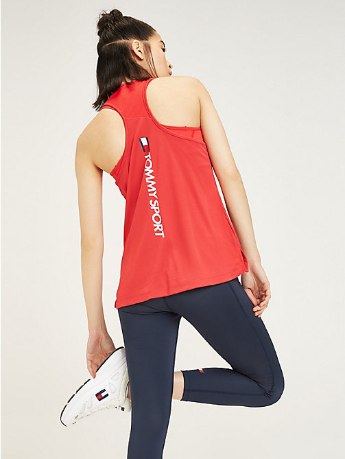 TOMMY SPORT Tommy Sport Logo Tank Top - TRUE RED - TOMMY SPORT Women - detail image 1