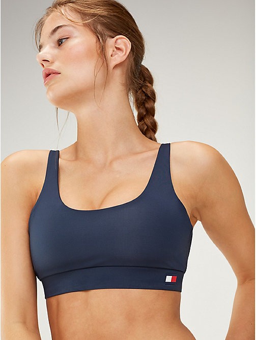 TOMMY SPORT Scoop Neck Low Support Sports Bra - SPORT NAVY - TOMMY SPORT Women - main image