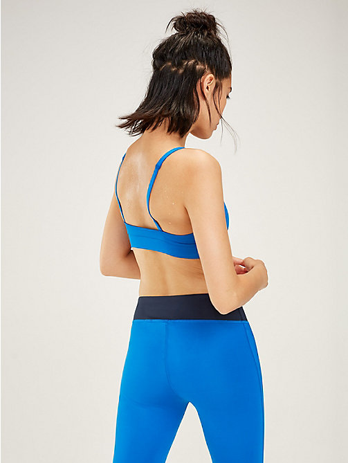 TOMMY SPORT Scoop Neck Low Support Sports Bra - PRINCESS BLUE - TOMMY SPORT Women - detail image 1