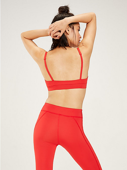 TOMMY SPORT Scoop Neck Low Support Sports Bra - TRUE RED - TOMMY SPORT Women - detail image 1