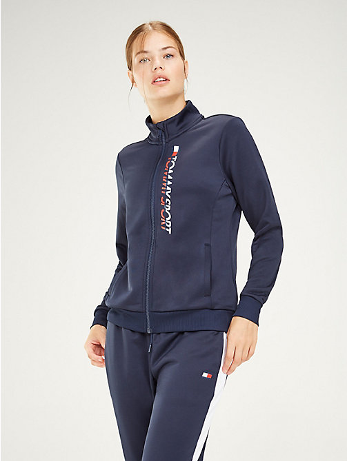TOMMY SPORT Zip-Thru Track Jacket - SPORT NAVY - TOMMY SPORT Women - main image