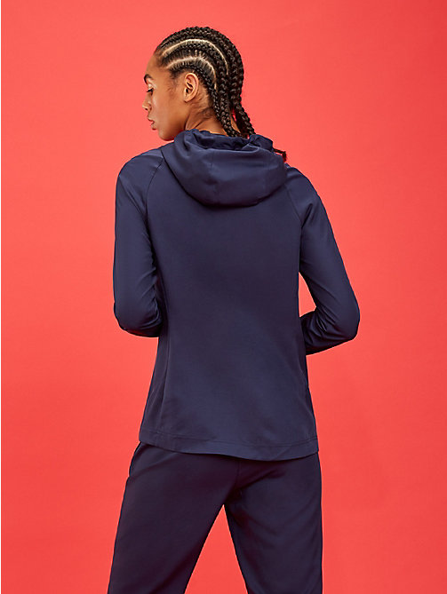 TOMMY SPORT Zip-Thru Hooded Jacket - SPORT NAVY - TOMMY SPORT Women - detail image 1