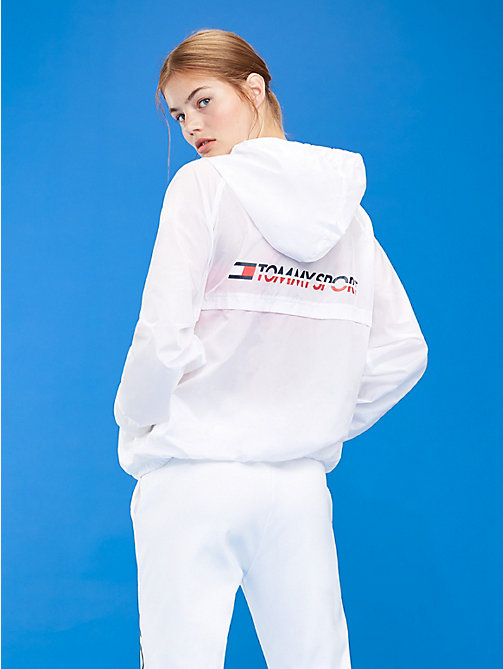 TOMMY SPORT Hooded Zip-Thru Windbreaker - PVH WHITE - TOMMY SPORT Women - detail image 1