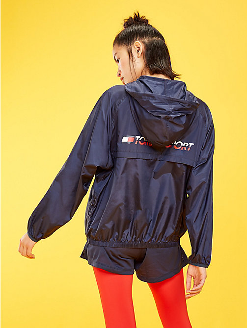 TOMMY SPORT Hooded Zip-Thru Windbreaker - SPORT NAVY - TOMMY SPORT Women - detail image 1