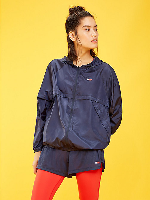 TOMMY SPORT Hooded Zip-Thru Windbreaker - SPORT NAVY - TOMMY SPORT Women - main image