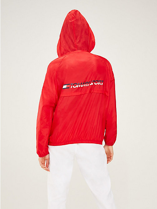 TOMMY SPORT Hooded Zip-Thru Windbreaker - TRUE RED - TOMMY SPORT Women - detail image 1