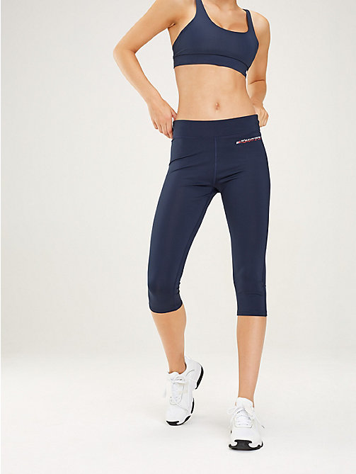 TOMMY SPORT High Rise Waist Capri Leggings - SPORT NAVY - TOMMY SPORT Women - main image