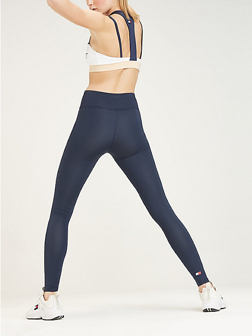 TOMMY SPORT High rise sportlegging met logo - SPORT NAVY - TOMMY SPORT Dames - detail image 1
