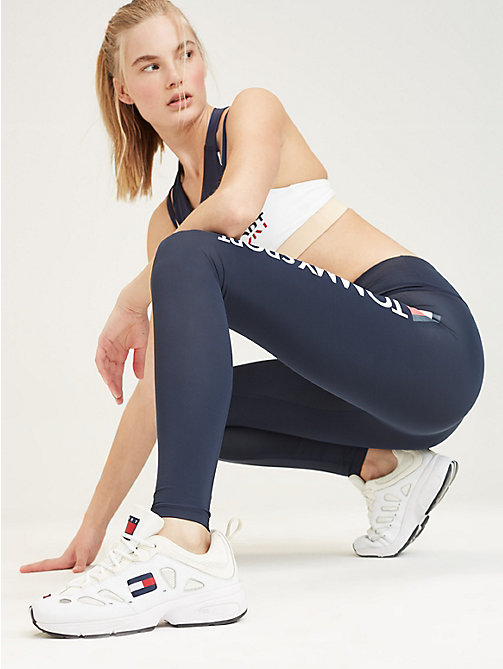 TOMMY SPORT High rise sportlegging met logo - SPORT NAVY - TOMMY SPORT Dames - main image