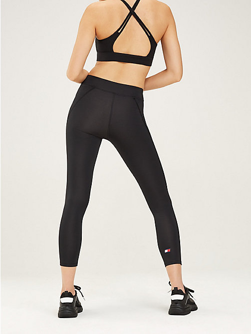 TOMMY SPORT 7/8 Length Wide Waistband Leggings - PVH BLACK - TOMMY SPORT Women - detail image 1