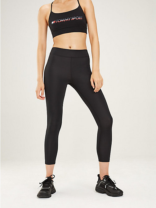 TOMMY SPORT Cropped sportlegging met brede tailleband - PVH BLACK - TOMMY SPORT Dames - main image