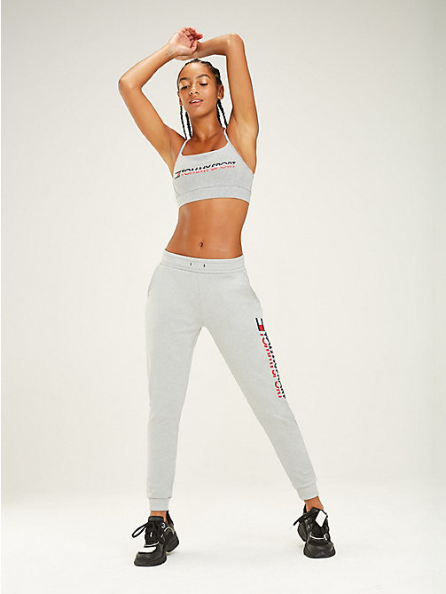 TOMMY SPORT Pantalon de survêtement à large logo - GREY HEATHER - TOMMY SPORT Femmes - image principale