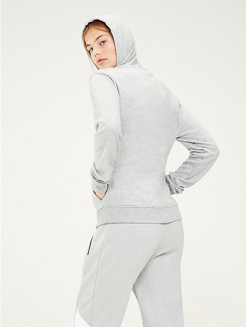 TOMMY SPORT Sweat à capuche zippé estampé - GREY HEATHER - TOMMY SPORT Femmes - image détaillée 1