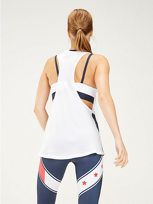TOMMY SPORT Oversized Tank Top - PVH WHITE - TOMMY SPORT Women - detail image 1