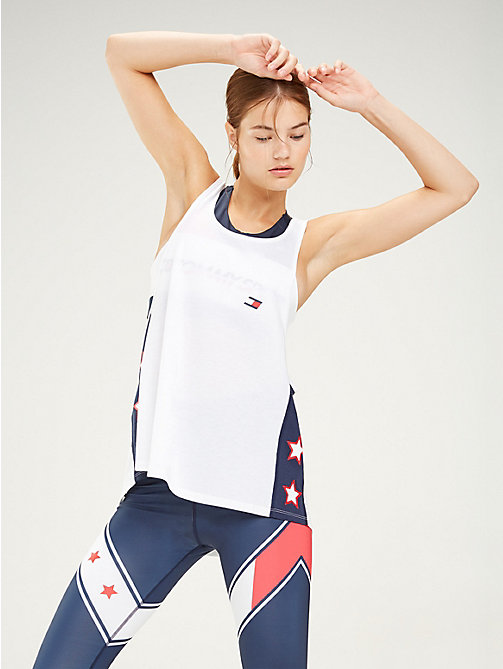 TOMMY SPORT Oversized Tank Top - PVH WHITE - TOMMY SPORT Women - main image
