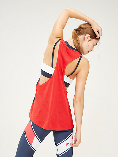 TOMMY SPORT Oversized Tank Top - TRUE RED - TOMMY SPORT Women - detail image 1