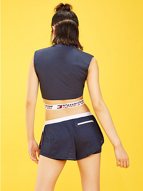 TOMMY SPORT Crossover Waistband Top - SPORT NAVY - TOMMY SPORT Women - detail image 1