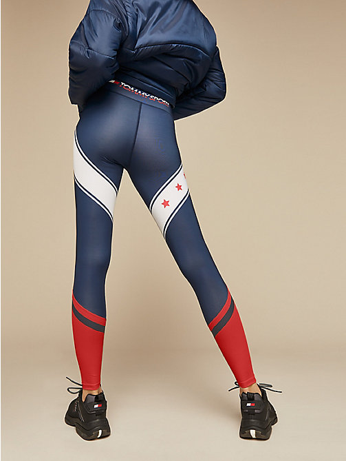 TOMMY SPORT Sportlegging met sterrenprint - SPORT NAVY - TOMMY SPORT Dames - detail image 1