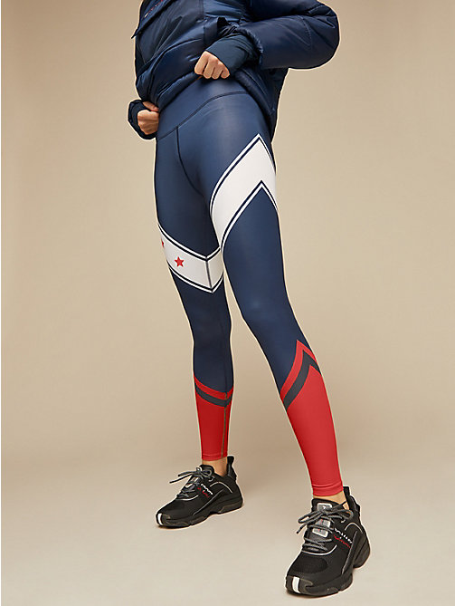 TOMMY SPORT Sportlegging met sterrenprint - SPORT NAVY - TOMMY SPORT Dames - main image