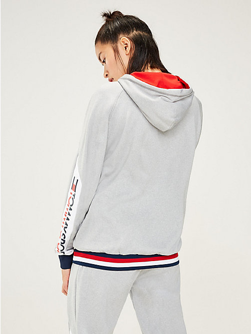 TOMMY SPORT Hoodie mit Tommy-Streifen am Saum - GREY HEATHER - TOMMY SPORT Damen - main image 1