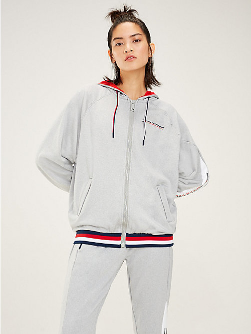 TOMMY SPORT Hoodie mit Tommy-Streifen am Saum - GREY HEATHER - TOMMY SPORT Damen - main image