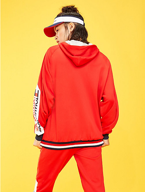 TOMMY SPORT Hoodie mit Tommy-Streifen am Saum - TRUE RED - TOMMY SPORT Damen - main image 1