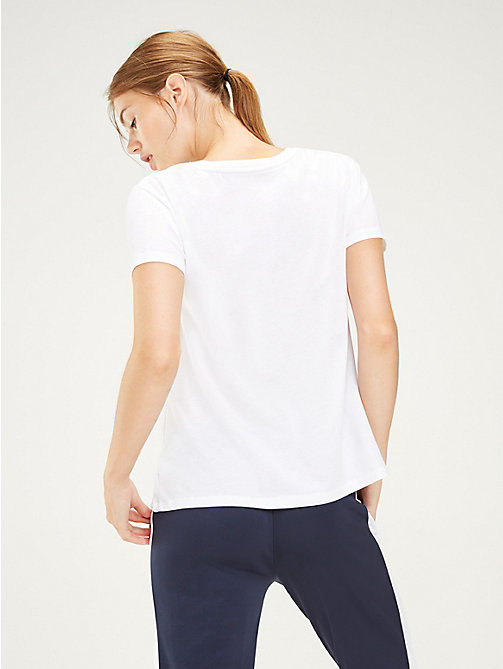 TOMMY SPORT Colour-Blocked Logo T-Shirt - PVH WHITE - TOMMY SPORT Women - detail image 1