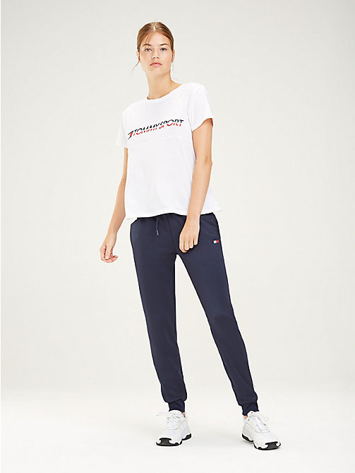 TOMMY SPORT Colour-Blocked Logo T-Shirt - PVH WHITE - TOMMY SPORT Women - main image