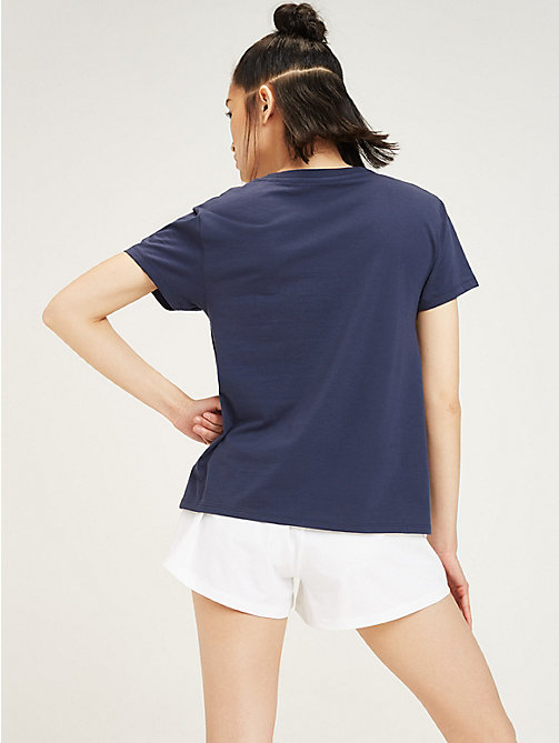 TOMMY SPORT Colour-Blocked Logo T-Shirt - SPORT NAVY - TOMMY SPORT Women - detail image 1
