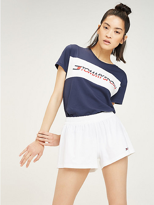 TOMMY SPORT Colour-Blocked Logo T-Shirt - SPORT NAVY - TOMMY SPORT Women - main image